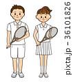 学生.男女.テニス 36101826