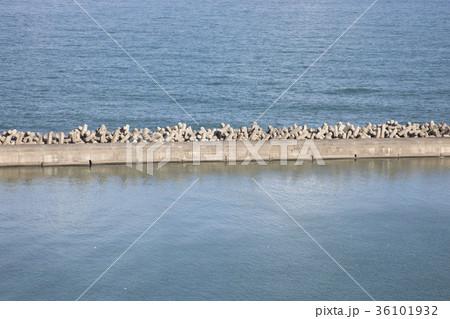 千葉県銚子市 消波ブロックと太平洋 36101932