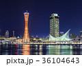 神戸・メリケンパークの夜景 36104643
