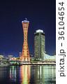 神戸 夜景 メリケンパークの写真 36104654