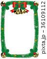 クリスマスベルのフレーム縦 36109112