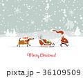 クリスマス グリーティング ベクターのイラスト 36109509