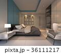 Luxury Cozy bedroom , 3d rendering 36111217