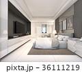 White Luxury Bedroom , 3d rendering 36111219