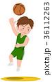 バスケットボール フックシュート 36112263