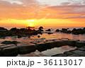 朝日 海 海岸の写真 36113017