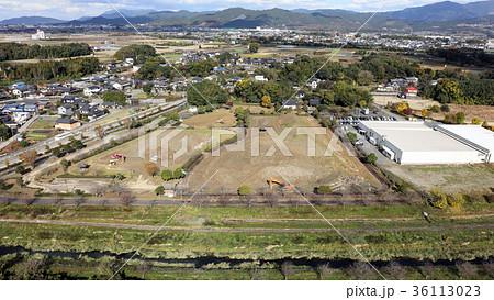 九州北部豪雨後の土砂置き場 朝倉市石成公園 36113023