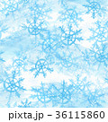 水彩画 スノーフレーク 雪片のイラスト 36115860