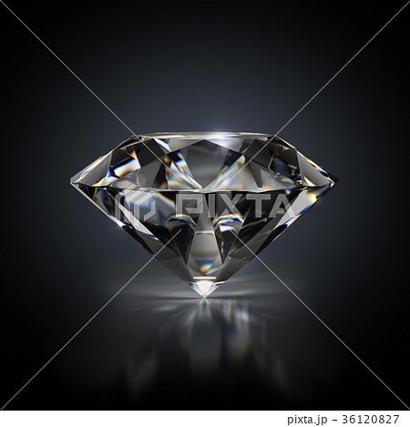 diamond on a black background 36120827