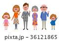 家族 三世代家族 ファミリーのイラスト 36121865