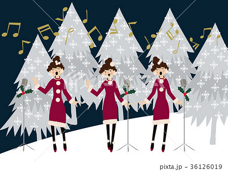 音楽会冬季クリスマスカレンダー用クリップアートのイラスト素材