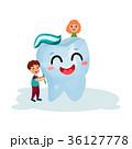 歯 歯磨き 子供のイラスト 36127778