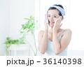 洗顔 クレンジング ビューティー 女性 スキンケア ビューティ 若い女性 美容 36140398