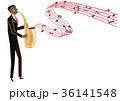 音楽のクリップアート。サックス。サキソフォン。演奏。 36141548