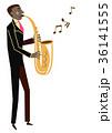サキソフォン サックス 演奏のイラスト 36141555