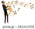 音楽のクリップアート。サックス。サキソフォン。演奏。 36141558