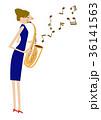 音楽 サキソフォン サックスのイラスト 36141563