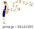 サキソフォン サックス 演奏のイラスト 36141565