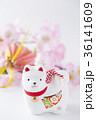 戌年 縁起物 年賀素材の写真 36141609