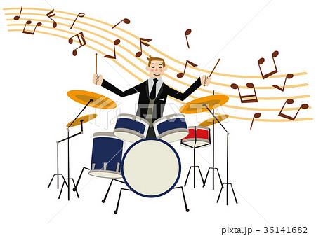 音楽のクリップアート。ドラム。ドラマー。パーカッション。 36141682