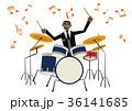 音楽のクリップアート。ドラム。ドラマー。パーカッション。 36141685