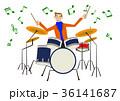 音楽のクリップアート。ドラム。ドラマー。パーカッション。 36141687
