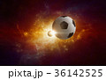 Soccer ball in glowing twisted galaxy 36142525