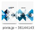 青 青い デザインのイラスト 36144143