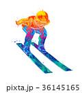 ジャンプ 跳ねる 飛躍のイラスト 36145165