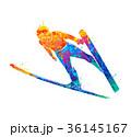 ジャンプ 跳ねる 飛躍のイラスト 36145167