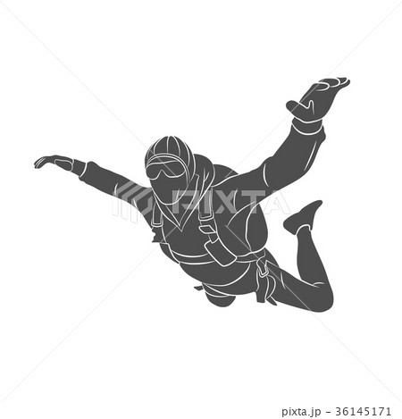 Abstract skydiver paint 36145171