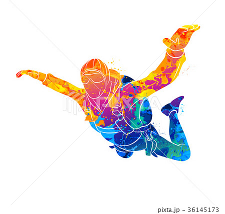 Abstract skydiver paint 36145173