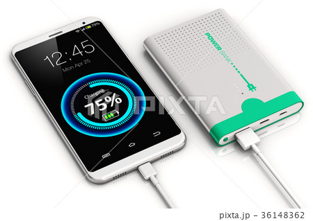 Smartphone charging with power bank 36148362
