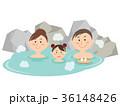 温泉 風呂 露天風呂のイラスト 36148426