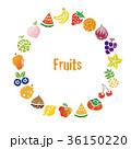 果物 フルーツ リースのイラスト 36150220