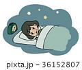 人物 不眠 不眠症のイラスト 36152807