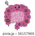 腸 不健康 キャラクターのイラスト 36157969