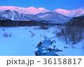 冬 白馬三山 雪景色の写真 36158817