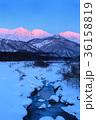 冬 白馬三山 雪景色の写真 36158819