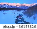 冬 白馬三山 雪景色の写真 36158826
