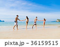 Two Couple On Beach Summer Vacation, Young People 36159515