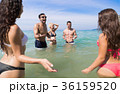 Young People Group On Beach Summer Vacation, Happy 36159520