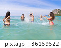 Young People Group On Beach Summer Vacation, Happy 36159522
