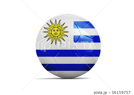 Soccer ball with team flag,  2018. Uruguayの写真素材 [36159757] - PIXTA