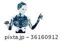 アンドロイド ロボット 顔のイラスト 36160912