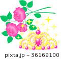 ティアラ 薔薇 ピンク ゴールド キラキラ 36169100