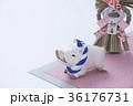 亥 猪 正月飾りの写真 36176731
