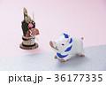 亥 猪 正月飾りの写真 36177335