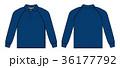 シャツ 長袖 ポロシャツのイラスト 36177792