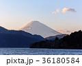 富士山 芦ノ湖 夕景の写真 36180584